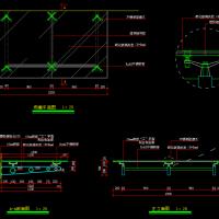 建筑出入口轻钢玻璃雨棚设计详图(悬挑1.5米)