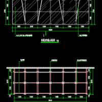 行政办公楼出入口玻璃雨棚设计图纸(含说明)