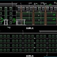 某四层框架教学楼建筑结构毕业设计图纸(4019平米)