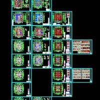 31层框筒结构综合楼结构施工图纸(cfg桩)