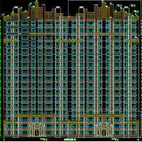 新疆乌鲁木齐17层一梯两户高层住宅楼设计图