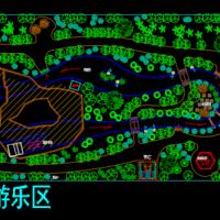 水上乐园总平面规划设计CAD图纸