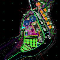 山地景观水上乐园规划设计总平面图