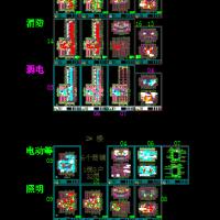 32层住宅楼电气设计图纸(带连廊含服务网点)