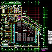某厂区四层框架结构食堂建筑设计图纸