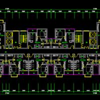 高层30~60平方米公寓户型图