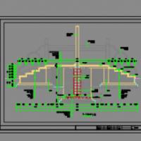 某地升旗台详细设计施工图纸(汉白玉栏杆)