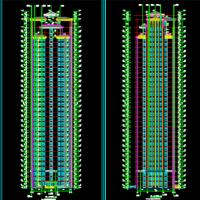 河南新乡坡屋顶32层公寓式住宅楼建筑设计图