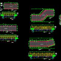 某公园景观木桥设计CAD图纸