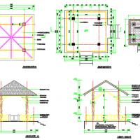 木质凉亭CAD详图