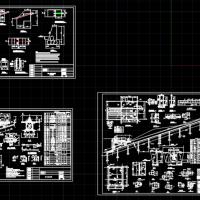 某工程滑轨缆车泵房设计CAD图