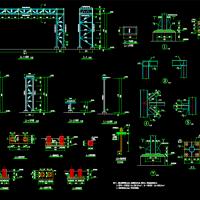 室外管道支架及基础CAD详图