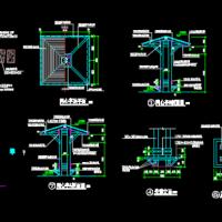 木结构同心亭组合设计图纸