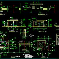 工厂门卫建筑设计CAD图纸
