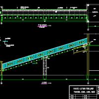云南某厂区钢结构栈桥皮带走廊设计图纸
