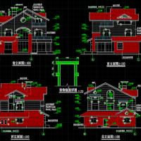 三层砖混结构别墅全套施工图纸(建结水电)