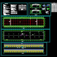 24米跨排架结构厂房建筑施工图纸