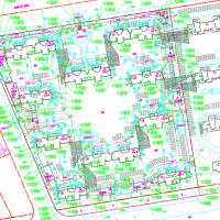 某高层住宅小区总平面规划设计图