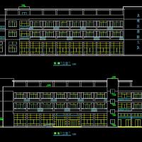 某三层框架结构消防队建筑及结构设计施工图纸(2284平米)