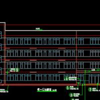 四层框架结构宿舍楼建筑及结构图(2882平米)
