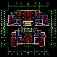 设计院整理的一梯四户平面户型图