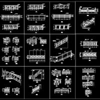 几十款装饰栏杆施工图CAD集合