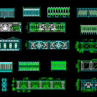 铁艺栏杆样式CAD图库