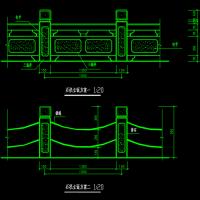 桥护栏及铁链栏杆设计图纸