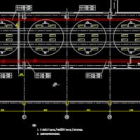 某工业建筑电缆桥架布置图