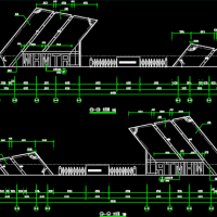 停车场门卫室建筑及结构全套图