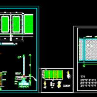 三款钢立柱铁丝网围墙详细设计施工图