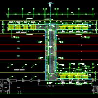 钢结构天桥兼车站设计图纸