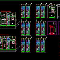 低压开关柜MNS总装图_箱柜体全套结构图