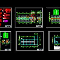 某厂区四层宿舍楼电气设计图纸(含食堂餐厅)