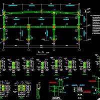 两层钢结构自行车棚设计图纸