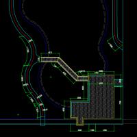 木栈道建筑及结构图图纸