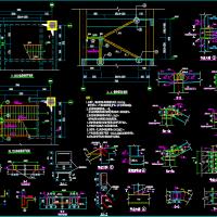 建筑内新增钢楼梯设计图纸