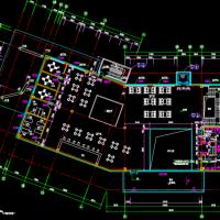 钢框架结构售楼处CAD图(建筑结构电气给排水)