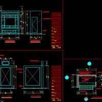 报刊亭设计CAD图纸