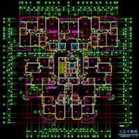 金华某26层一梯六户高层住宅楼建筑图(含地库人防)