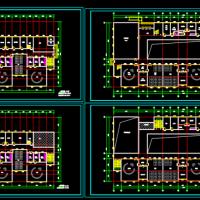 两套两层6班幼儿园建筑平面方案图