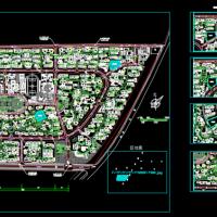 大型住宅区规划设计CAD图纸