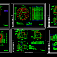 六张市政标准污水井设计CAD详图
