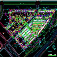 保利某住宅项目总体规划CAD图