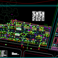 山东某地高层住宅小区规划图