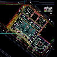 某市人民医院总平面规划设计方案图纸