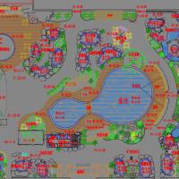 度假村温泉泡池工程设计CAD施工图(做法详细)