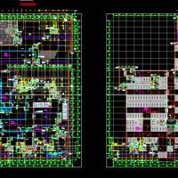 地下一层车库人防设计施工图纸(掩蔽部 物资库)