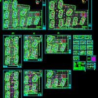 某地区大型小区人防地下室建筑设计图(人掩与物资)