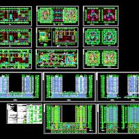 高层商住楼全套施工图(CAD带人防)